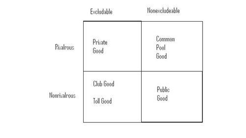 taxonomy of goods